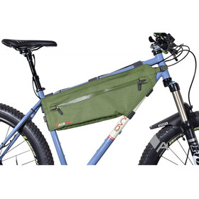 Acepac Zip Frame Bag Bike Pannier M green